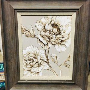 Wood framed botanical wall art